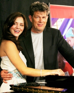 Katharine McPhee and David Foster during the 2006 JC Penny Jam press conference at the Shrine Auditorium in Los Angeles, California.