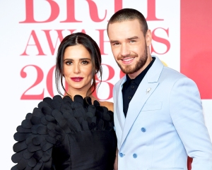 Cheryl Cole and Liam Payne attend the 2018 BRIT Awards at The O2 Arena in London.