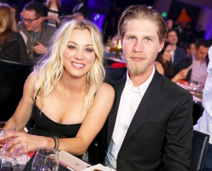 Kaley Cuoco and Karl Cook attend Seth Rogen's Hilarity For Charity 2018 at Hollywood Palladium in Los Angeles, California.