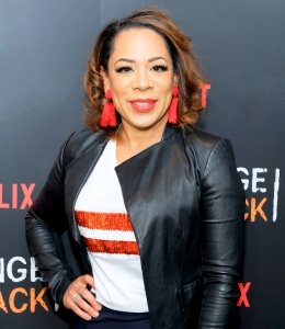 "Selenis Leyva attends the ""Orange Is The New Black"" 2018 EMMY FYC red carpet at Crosby Street Hotel in New York City."
