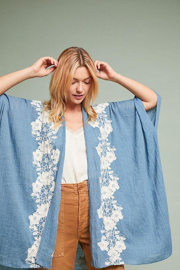 Azurine Floral Kimono