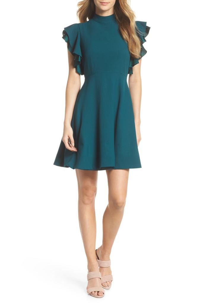 Chelsea28 Crepe Fit & Flare Dress