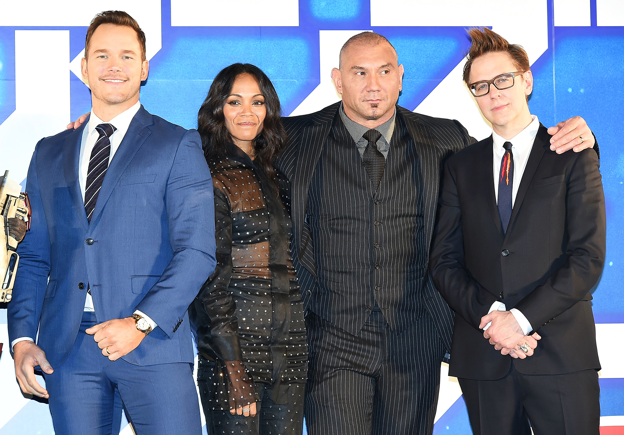 James Gunn Fired Chris Pratt Zoe Saldana Dave Bautista Speak Out
