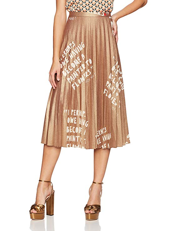 drew barrymore dear drew metallic skirt pleated