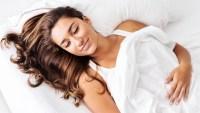 woman asleep pillowcase