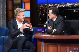 The Late Show with Stephen Colbert and guest Gordon Ramsay