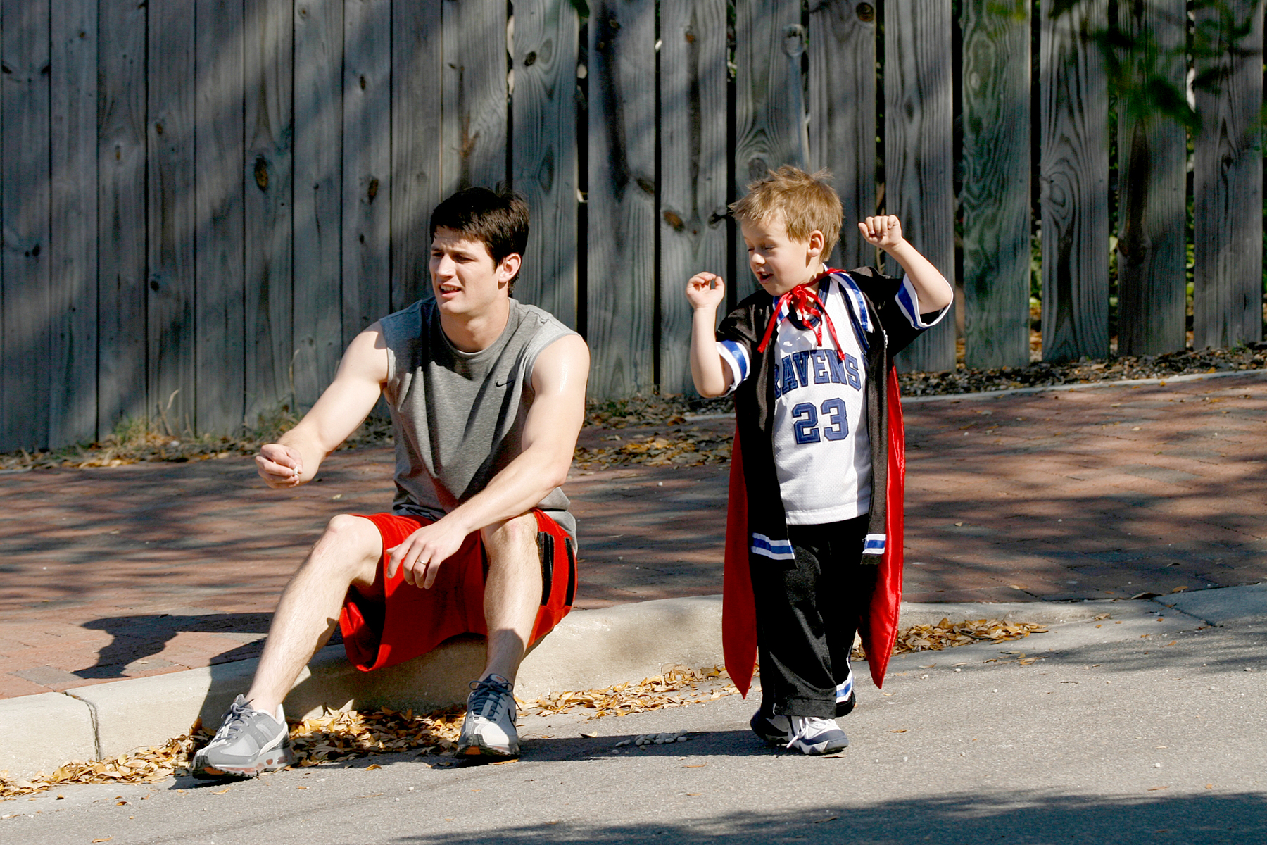 James-Lafferty-one-tree-hill - James Lafferty as Nathan and Jackson Brundage as Jamie in One Tree Hill.