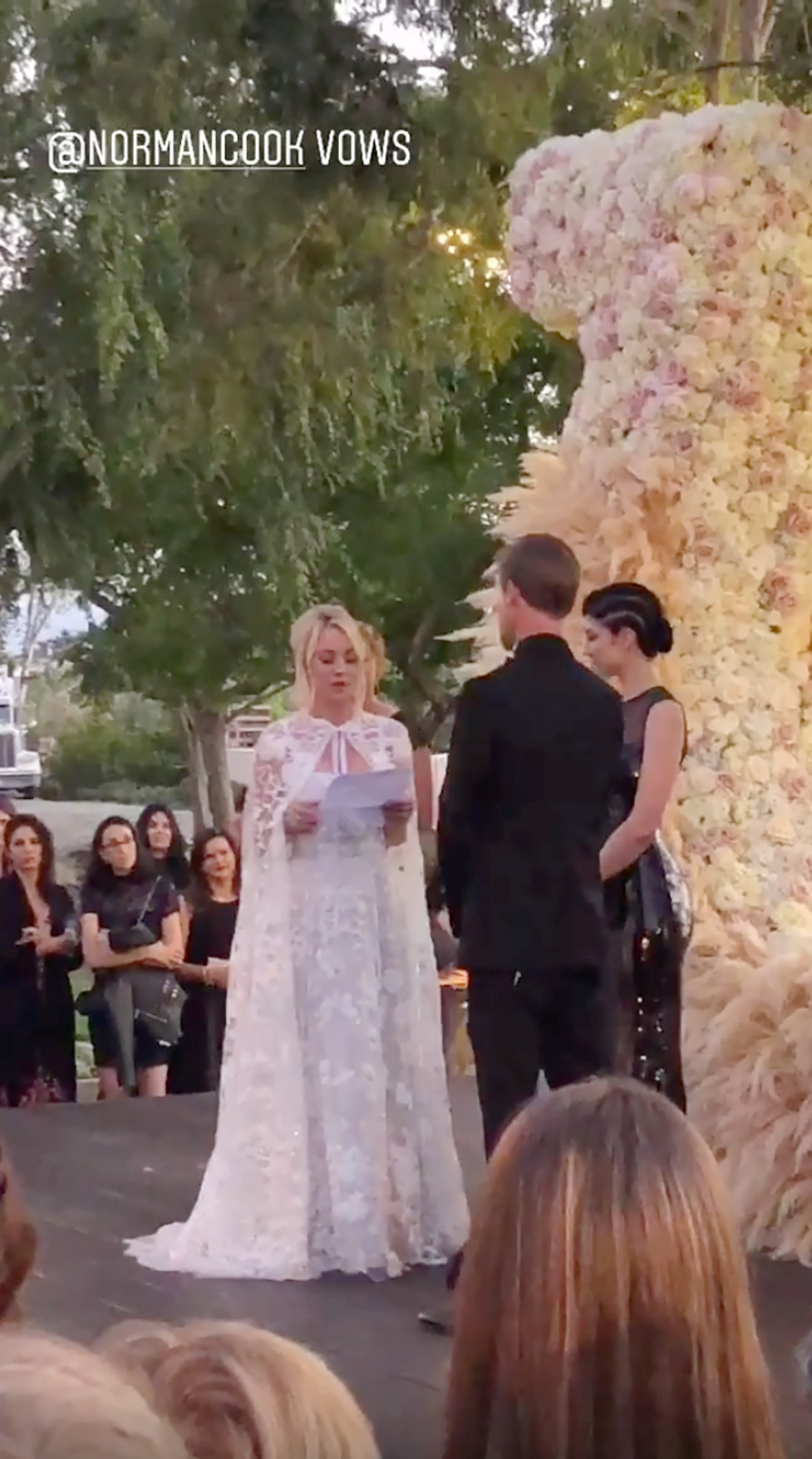 Kaley Cuoco And Karl Cook S Wedding Funny Vows Guests Including Johnny Galecki Pics