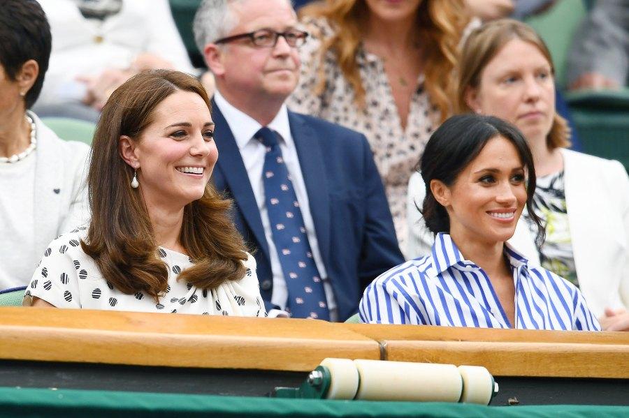 Kate Middleton, Meghan Markle, Duchess of Cambridge, Duchess of Sussex, Wimbledon Championships