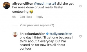 Khloe Kardashian, Nose Job, Contouring, Instagram