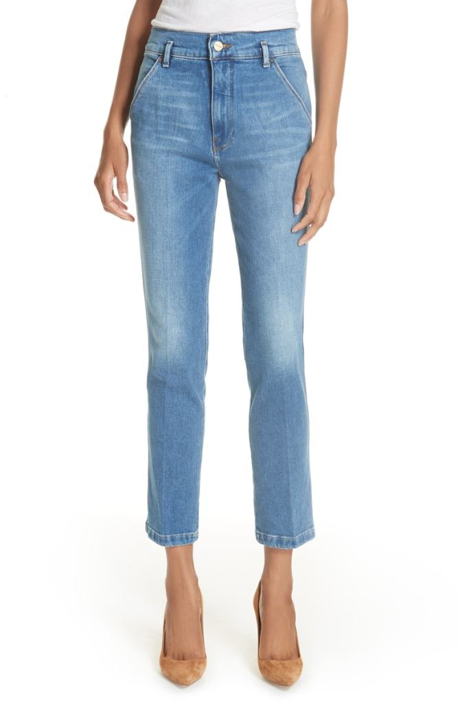 cropped straight leg jeans nordstrom sale