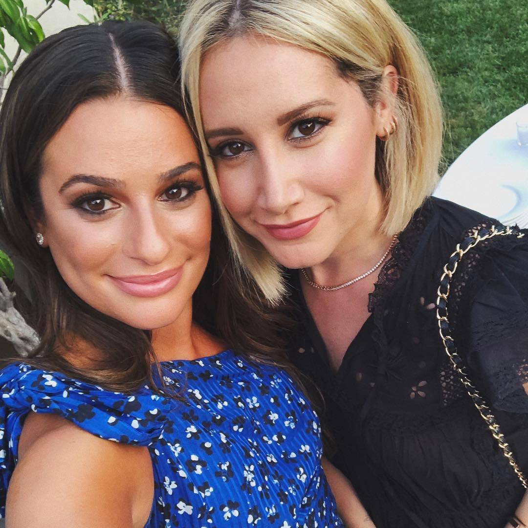 Lea Michele Celebrates Engagement With Emma Roberts Hilary Duff Pics