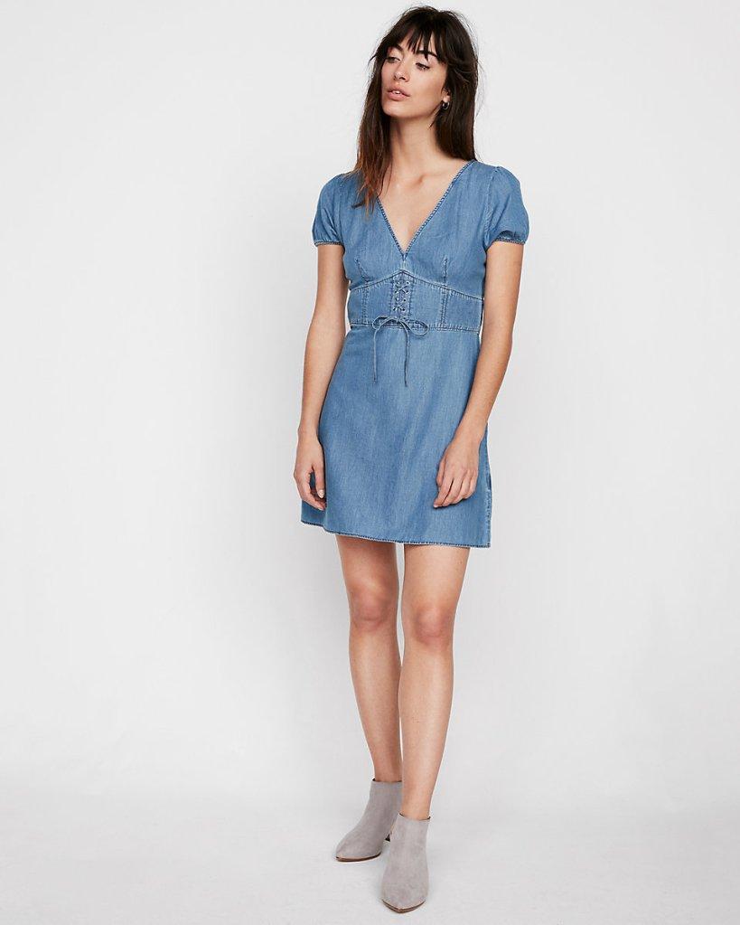 Meghan Markle Wears Denim Dress To Polo Game Shop Similar