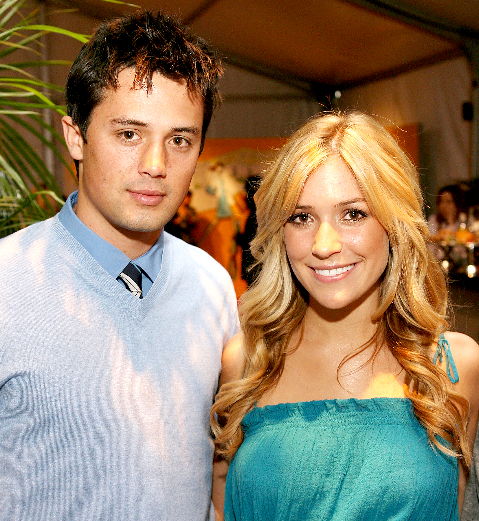 Stephen-Colletti-Kristin-Cavallari - Stephen Colletti and Kristin Cavallari attend Mercedes-Benz Fashion Week held at Smashbox Studios on March 11, 2008 in Culver City, California.