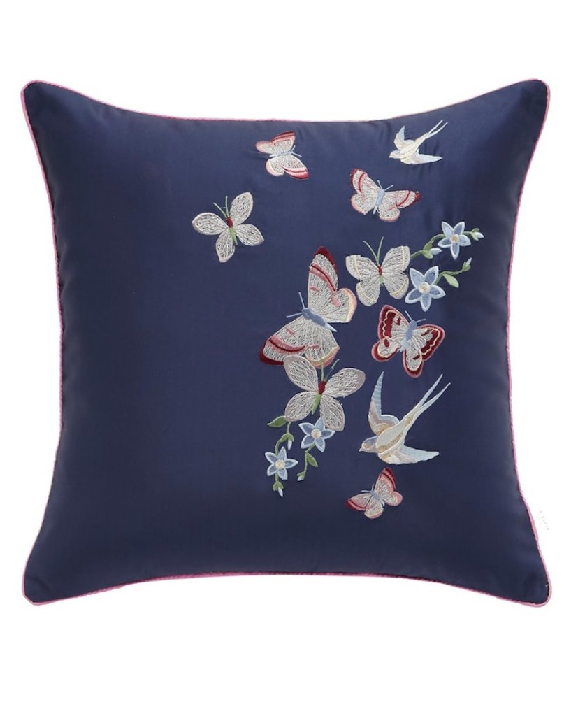 Ted Baker London Butterfly Embroidered Accent Pillow