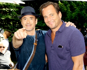 Will Arnett and Robert Downey Jr.