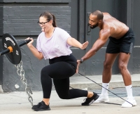 Ashley Graham Justin Ervin Workout Dogpound Gym