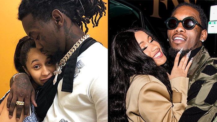 "cardi b - The new mom glowed while makeup-free in a shared Instagram post where she's seen cuddled up to her husband, Offset. The singer who welcomed daughter, Kulture Kiari Cephus on July 10 captioned the photo, ""Doctors visit with mom & Dad🎀🌸K."""