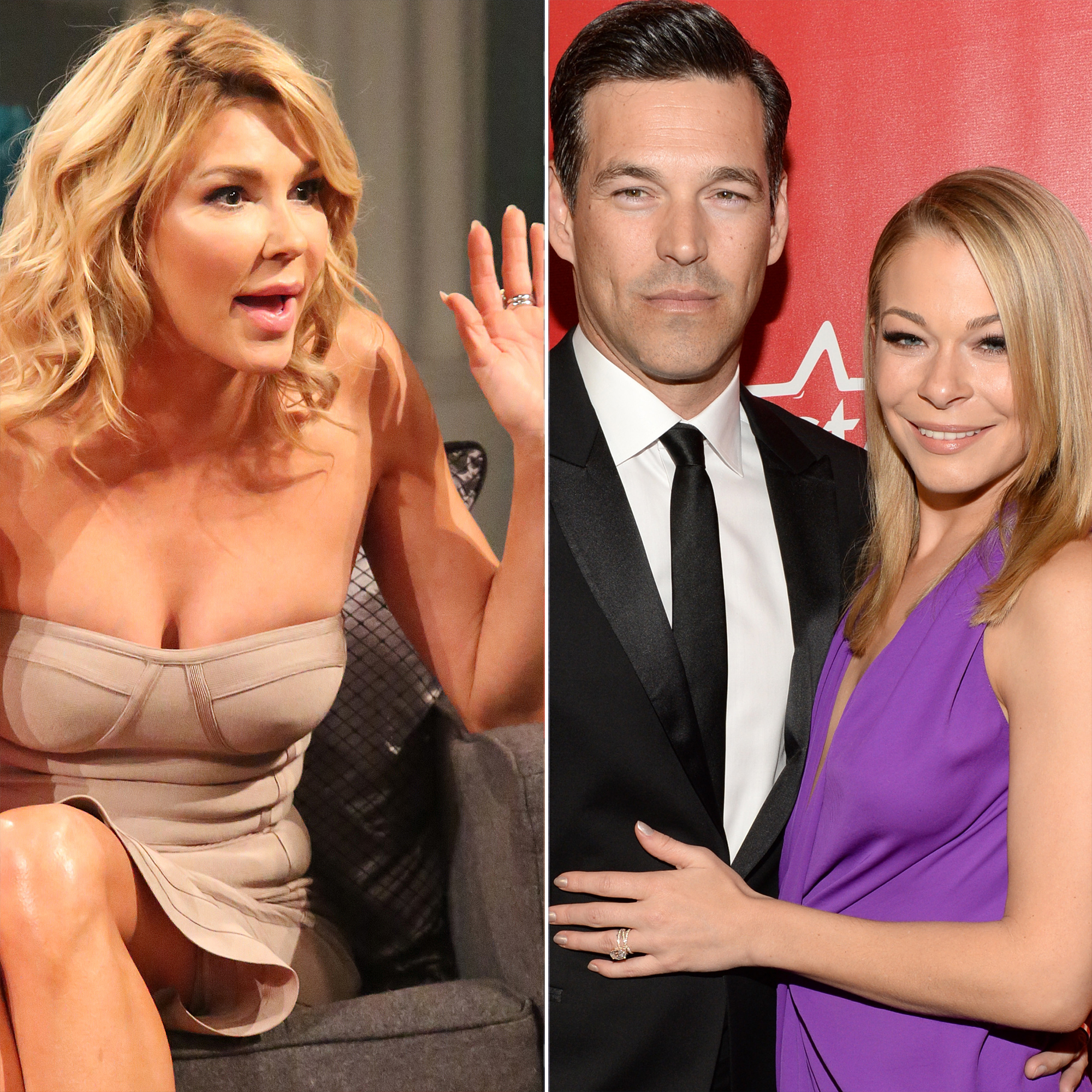 """Revisit Brandi Glanville's Feud With Eddie Cibrian and LeAnn Rimes - Us Weekly broke the news that Rimes was having an affair with Cibrian after meeting on the set of the Lifetime movie Northern Lights . The """"Can't Fight the Moonlight"""" singer was married to former backup dancer Dean Sheremet at the time, while the Sunset Beach alum was wed to Glanville."""