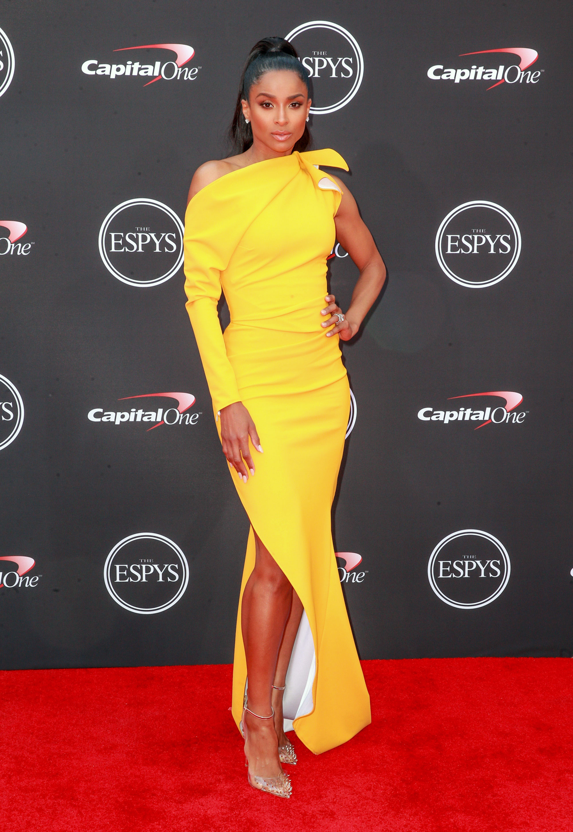 ciara-espys - LOS ANGELES, CA – JULY 18: Ciara attends the 2018 ESPYS at Microsoft Theater on July 18, 2018 in Los Angeles, California. (Photo by Rich Fury/WireImage)