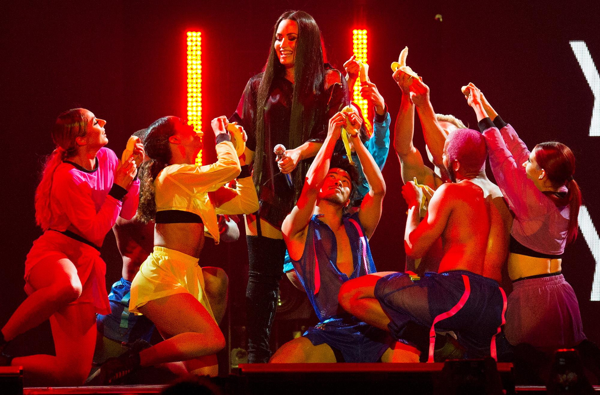 Demi Lovato Dani Vitale Backup Dancer Supports Recovery