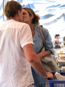 Newly Divorced Supermodel Elle MacPherson Kisses discredited former doctor Andrew Wakefield, 60