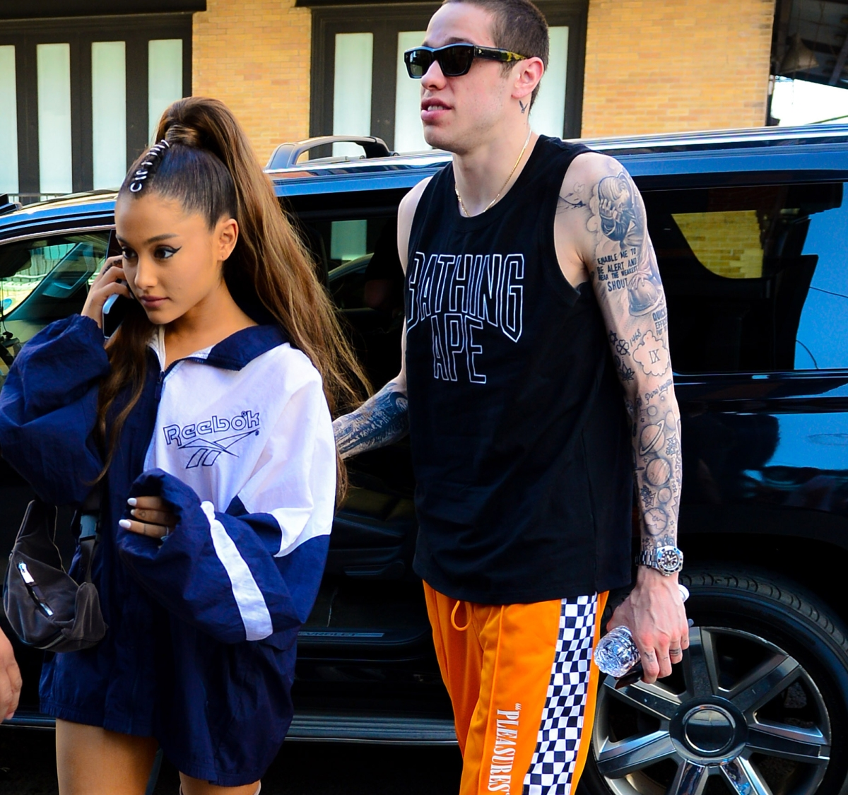 ca773995 Every Tattoo Pete Davidson, Ariana Grande, Have Gotten for Each Other