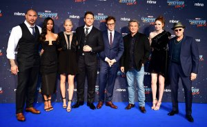 Dave Bautista, Zoe Saldana, Pom Klementieff, Chris Pratt, James Gunn, Kurt Russell, Karen Gillan and Michael Rooker