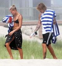 Hailey Baldwin Justin Bieber Hamptons Beach