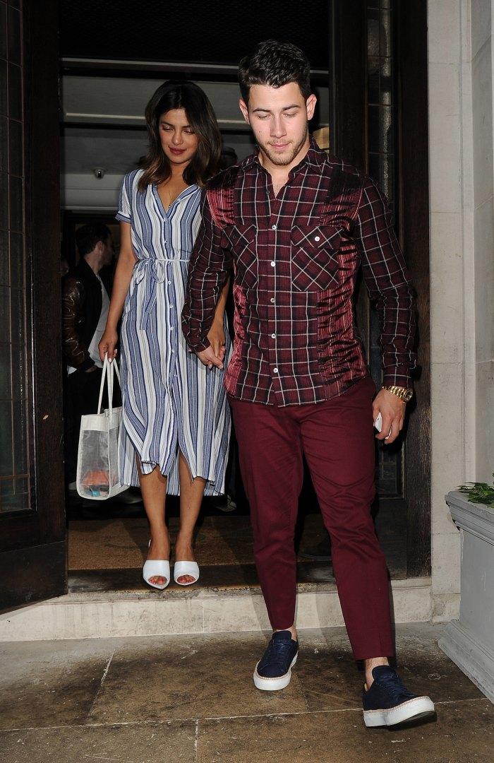 Nick Jonas and his girlfriend Priyanka Chopra