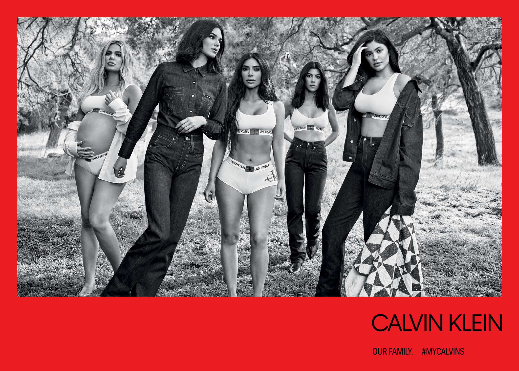 f5d78d732a Sister Act. The gang s all here in this sultry snap that includes looks  from the Calvin Klein Underwear ...