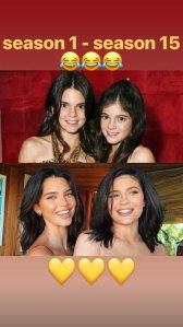 Kendall Jenner Kylie Jenner transformation