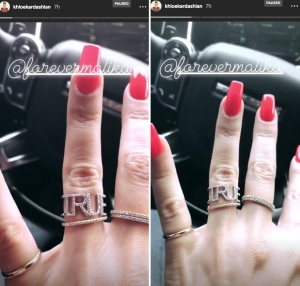 Khloe Kardashian's True ring