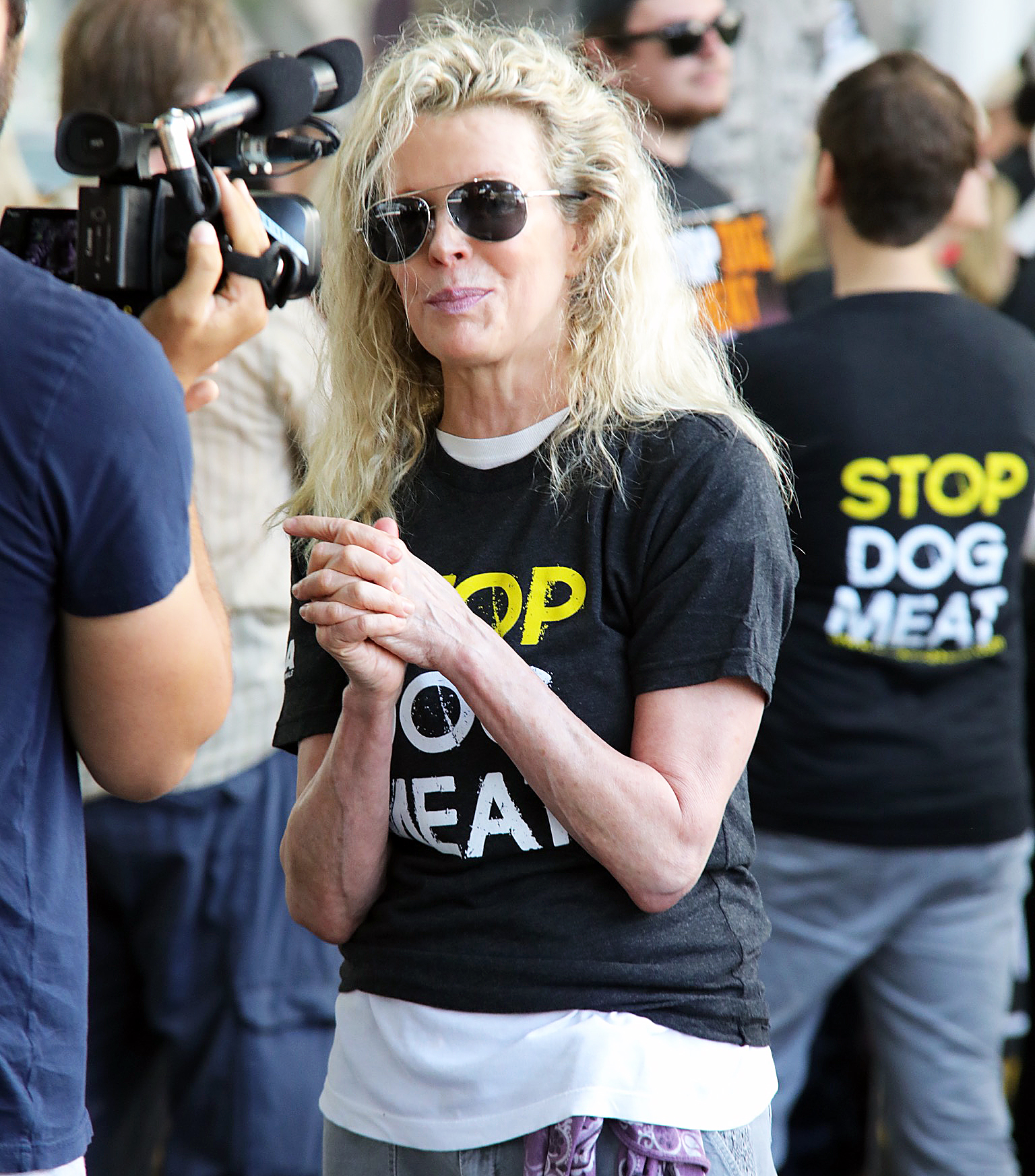 Kim Basinger Justin Bieber Hailey Baldwin Already Picked Bridal Party - Kim Basinger attends a silent demonstration to end the dog meat trade of South Korea on July 17, 2018 in Los Angeles, California.