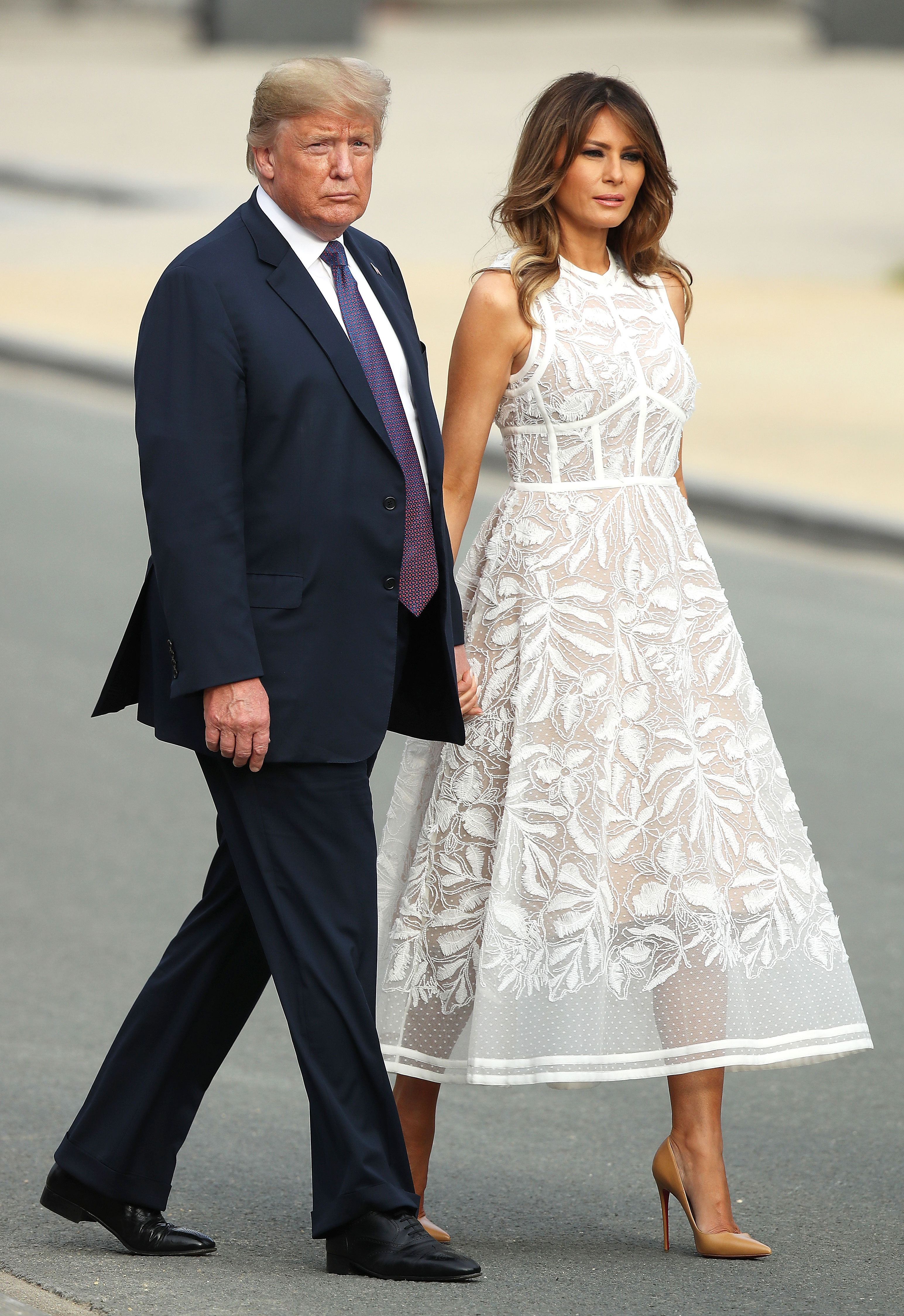 Melania Trump - BRUSSELS, BELGIUM – JULY 11: U.S. President Donald Trump and U.S. First Lady Melania Trump attend the evening reception and dinner at the 2018 NATO Summit on July 11, 2018 in Brussels, Belgium. Leaders from NATO member and partner states are meeting for a two-day summit, which is being overshadowed by strong demands by U.S. […]