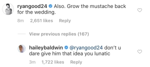 ryan-good-hailey-baldwin-justin-bieber-comment
