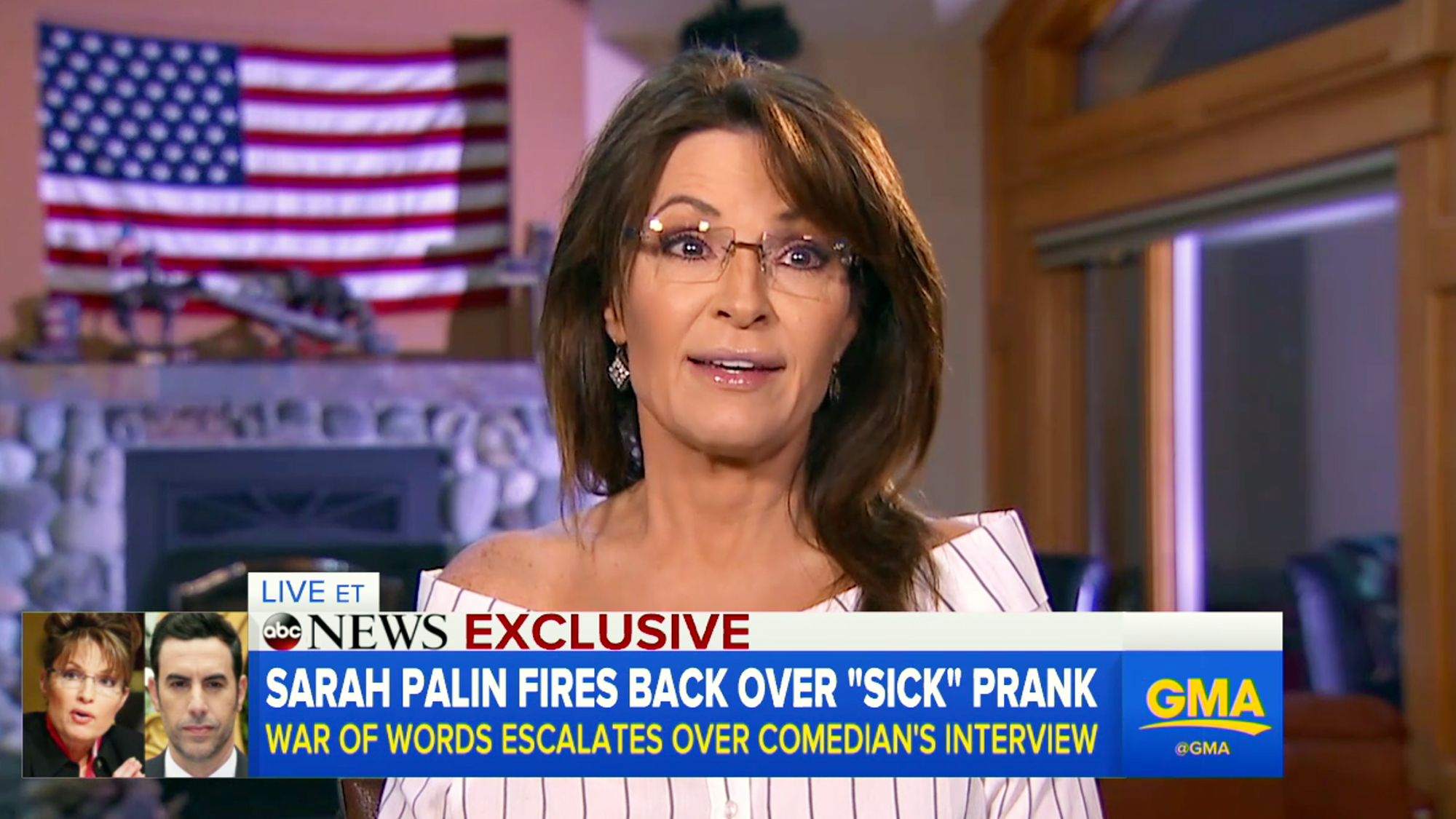 Sarah Palin Slams Liar Sacha Baron Cohen