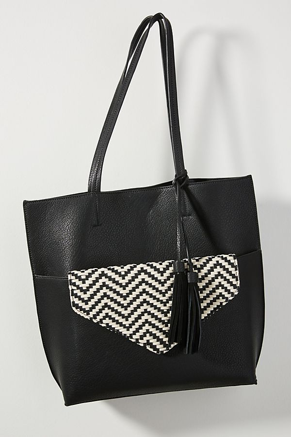 black tote bag handbag anthropologie