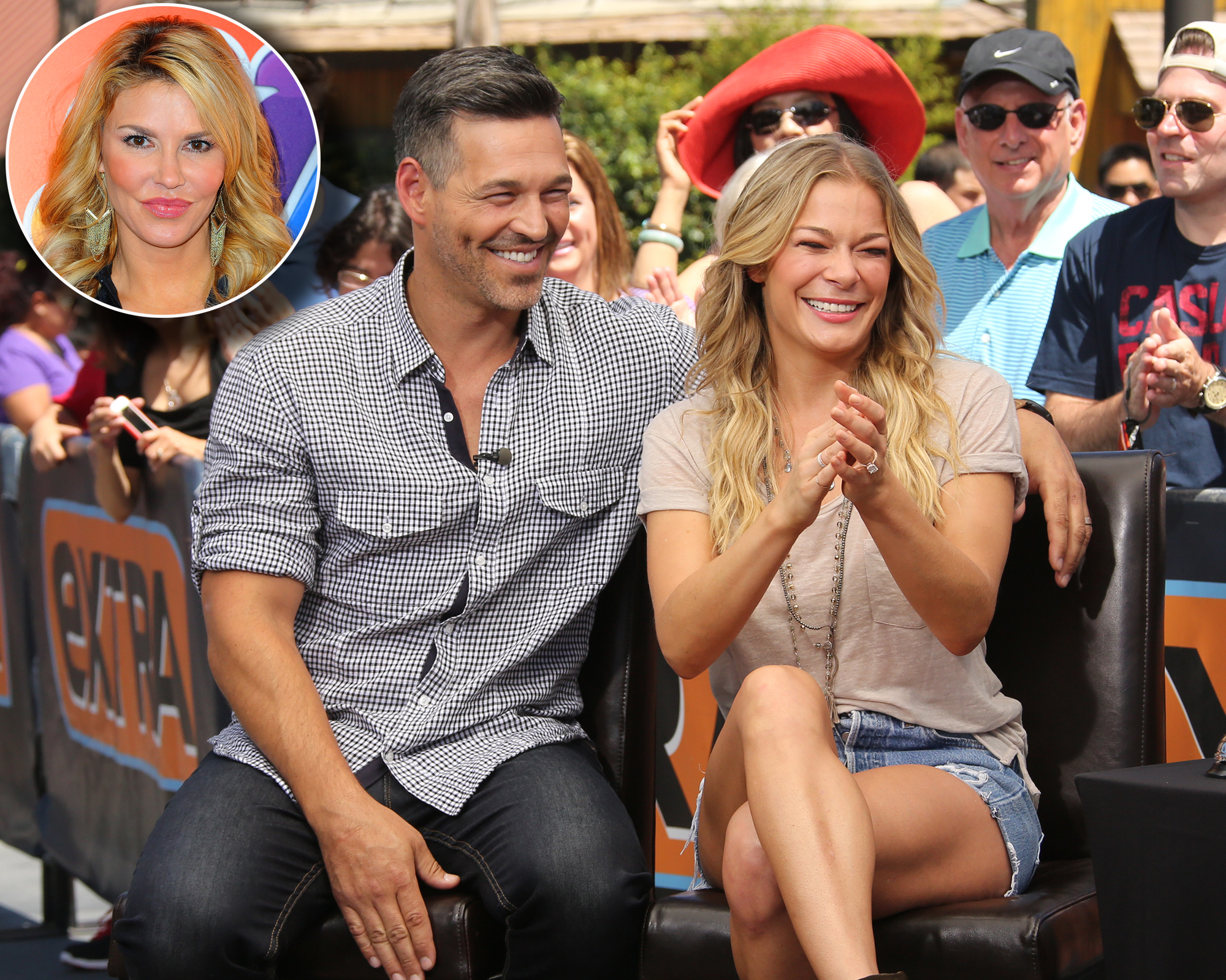 """Revisit Brandi Glanville's Feud With Eddie Cibrian and LeAnn Rimes - The feud seemed to settle down for a bit — until the Celebrity Big Brother star predicted that her ex-husband will divorce Rimes in a few years. """"I think when the 10-year mark [of their marriage] comes and he leaves her and takes half her stuff, we'll all be good together because they won't even be related,"""" Glanville said on Daily Pop ."""