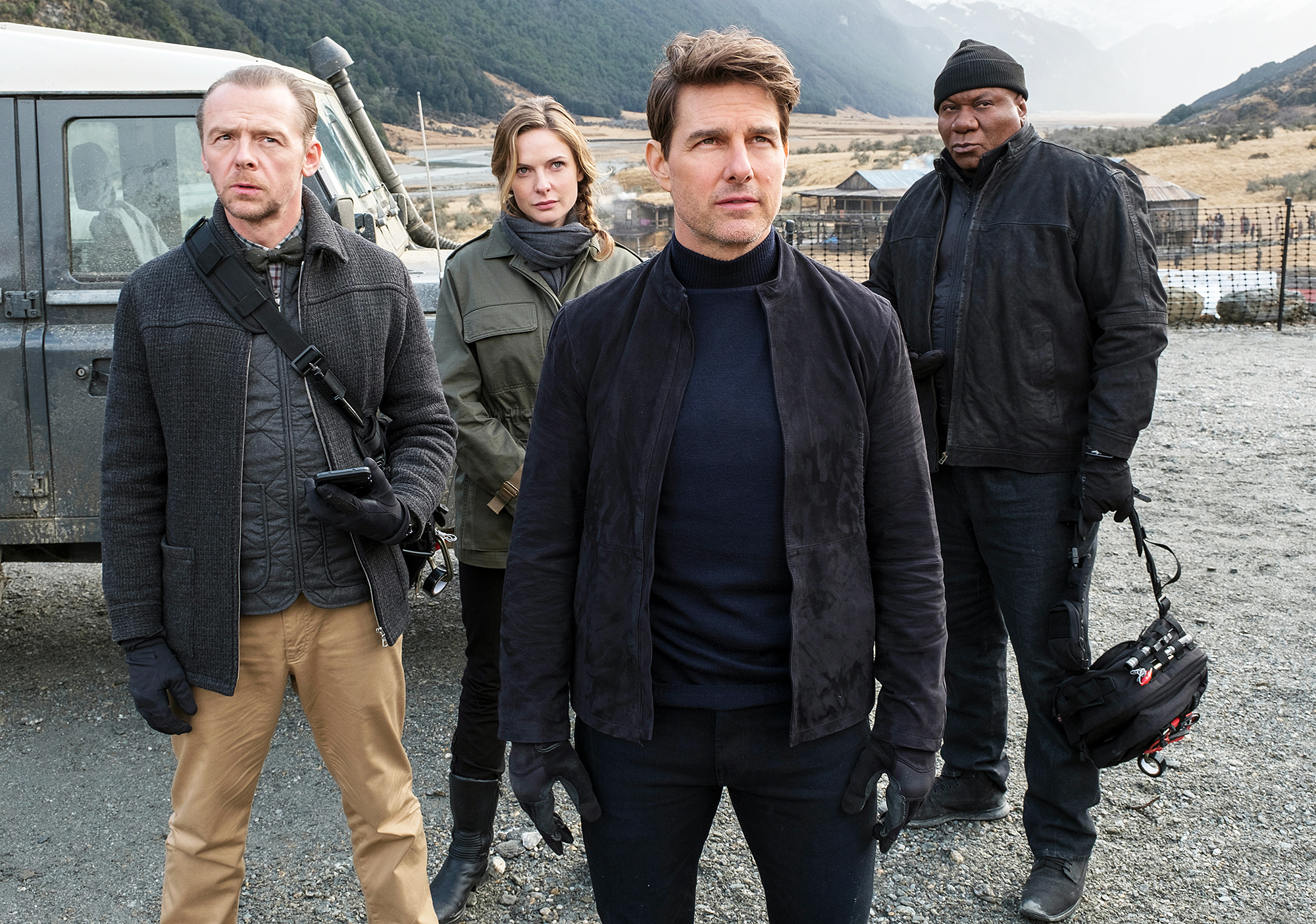 Simon Pegg Rebecca Ferguson Tom Cruise Ving Rhames Mission Impossible Fallout