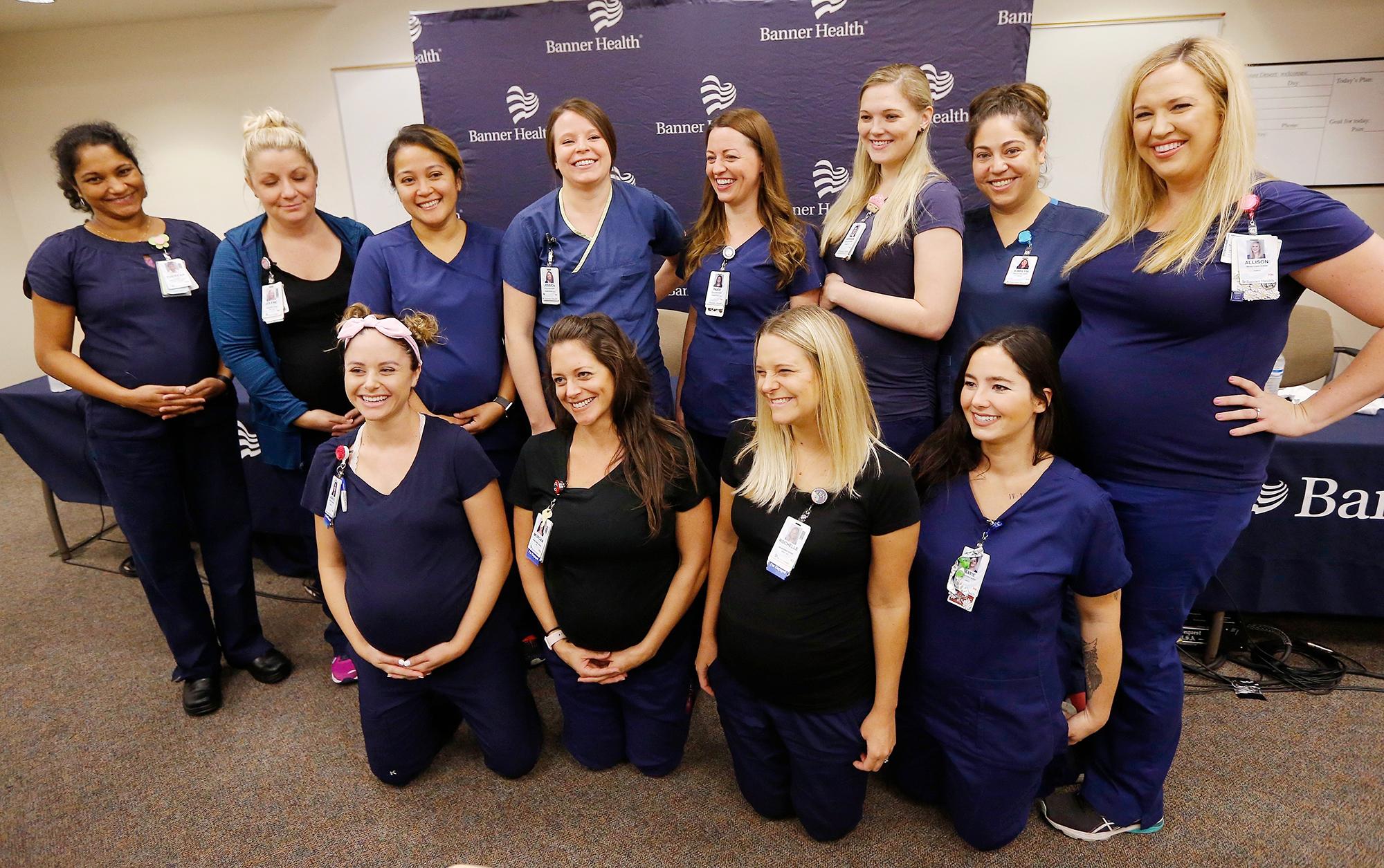 16 Pregnant Nurses