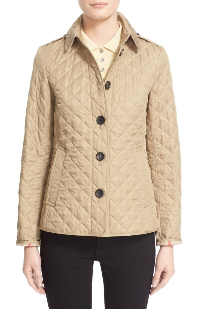 You Can Buy A Burberry Quilted Jacket On Sale Right Now
