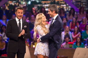 Chris Harrison and Lauren and Arie
