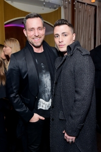 Jeff Leatham and Colton Haynes at Delilah on March 13, 2018.
