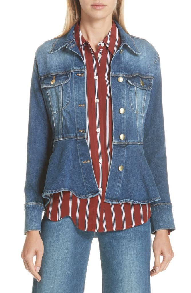 Frame Flounce Denim Jacket