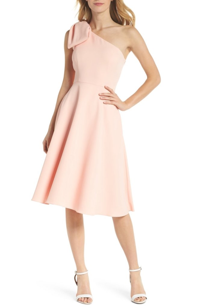 Gal Meets Glam Yvonne Dream Crepe One-Shoulder Dress
