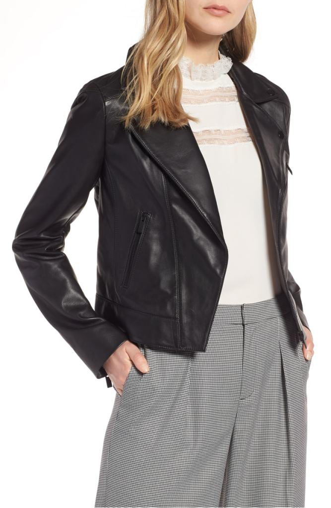 This Chic Leather Jacket Is Under $200 and Perfect for Fall