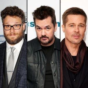 Seth Rogan, Jim Jefferies, and Brad Pitt
