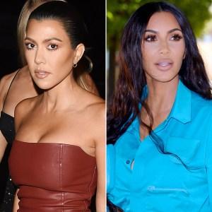 Kourtney Kardashian, Kim Kardashian West, Fight