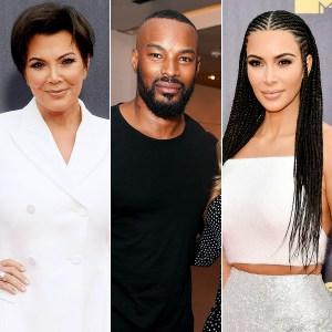 Kris Jenner, Tyson Beckford and Kim Kardashian